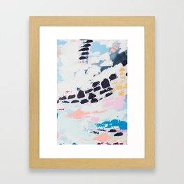 BECKETT 5 // ABSTRACT MIXED MEDIA ART ON CANVAS Framed Art Print