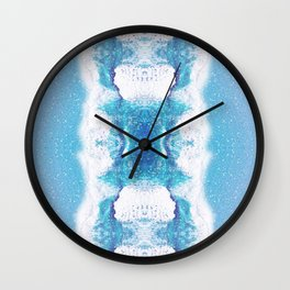 Two Worlds - Ocean Color Spray Wall Clock