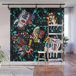 Mostrini in the Space Graffiti Street Art  Wall Mural