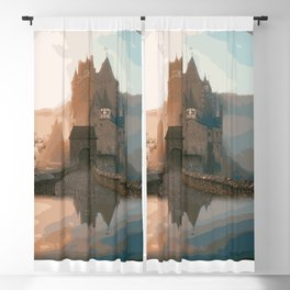 Castle In The Mist (Painting) Blackout Curtain