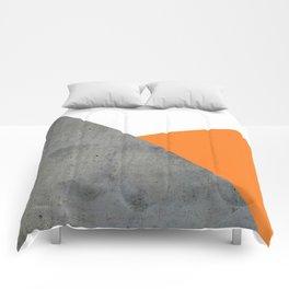 Concrete Tangerine White Comforters