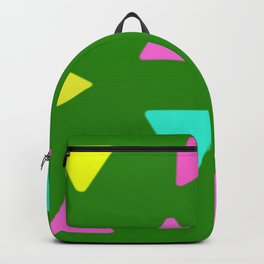 Colorful Triangles over Green Backpack