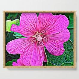 Pink Flowers of Diamond Essence Serving Tray
