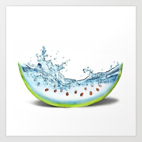 WATER-MELLON Art Print