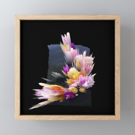 flowers 3d abstract digital painting Framed Mini Art Print