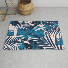 Tropical Jungle Leaves Pattern #6 #tropical #decor #art #society6 Rug