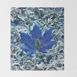 The Blue  Leaf Of Peace, Unity and Acceptance Throw Blanket