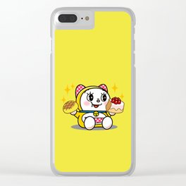 Dorami Eating Clear iPhone Case