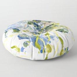 Turtle Baby Sea Turtles, underwater scene olive green, green indigo blue children Floor Pillow