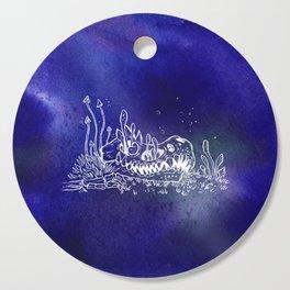 Dino skull – Blue Cutting Board