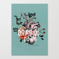 coconutwishes Canvas Prints featuring Drag Me Down by Coconut Wishes