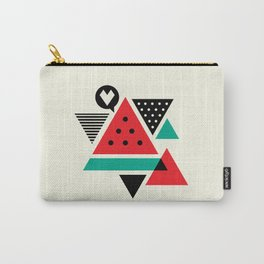Watermelon Geometic Triangles Carry-All Pouch