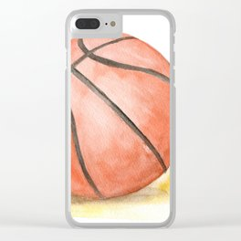 Basketball Watercolor Clear iPhone Case