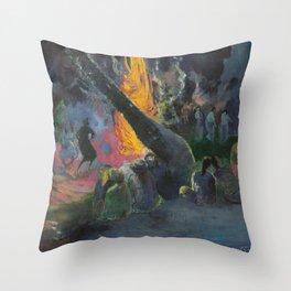 Upa Upa (The Fire Dance) by Paul Gauguin Throw Pillow