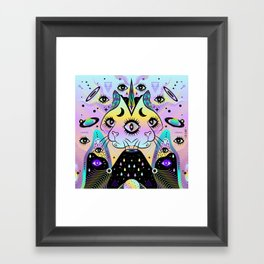 Power of Three Cats Framed Art Print