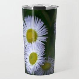 White Wildflowers Travel Mug