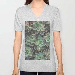 Succulents 2 Unisex V-Neck