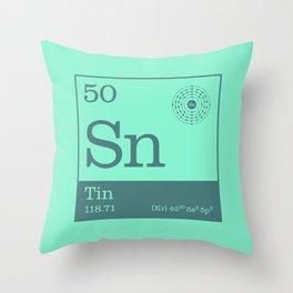 Periodic Elements - 50 Tin (Sn) Throw Pillow