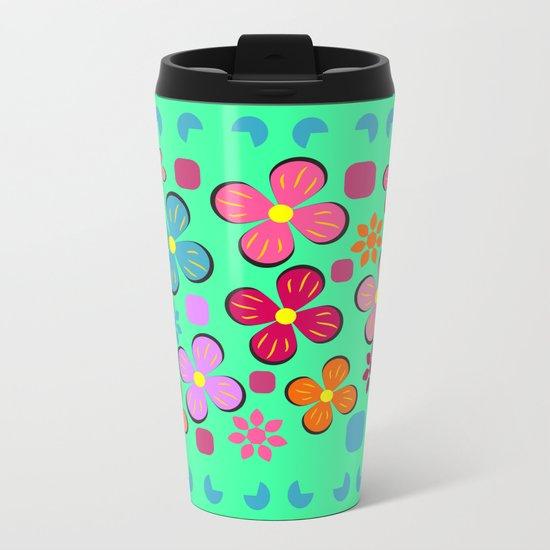 Funny flowers Metal Travel Mug