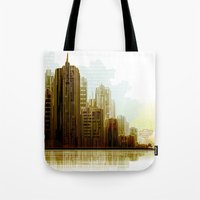 cityscape Tote Bags featuring Cityscape by Robin Curtiss
