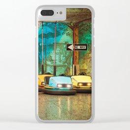 Bumper Cars Clear iPhone Case