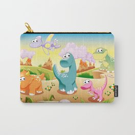 Dinosaurs Family with background Carry-All Pouch