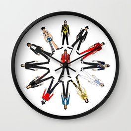 Outfits of King MJ Pop Music Wall Clock