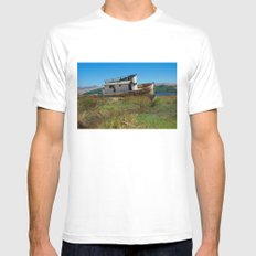 Point Reyes Shipwreck White Mens Fitted Tee MEDIUM