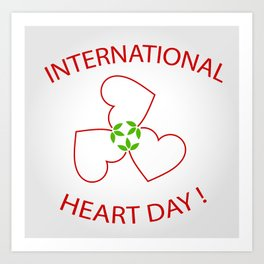 International Heart Day Art Print