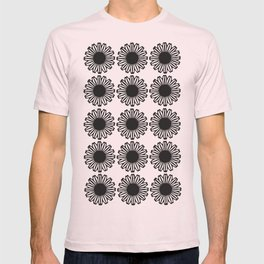 vintage flowers black T-shirt
