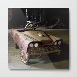 Barn Pedal Car Metal Print