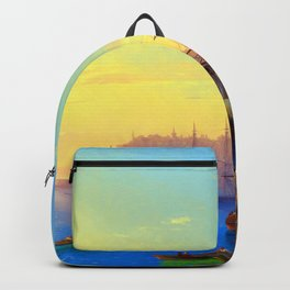Ivan Aivazovsky View of Constantinople Backpack