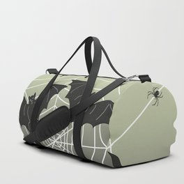 Bats with Spider Web in Background Duffle Bag