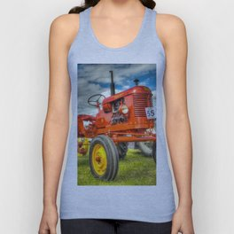 Red Tractor Unisex Tank Top