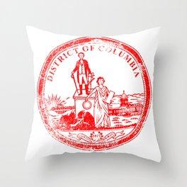 Washington DC Seal Rubber Stamp Throw Pillow