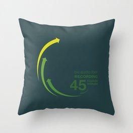 45rpm be.audio.fool Throw Pillow