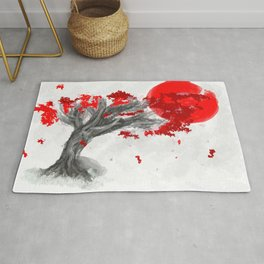 Red Moon Blossom Rug