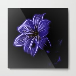 A luminescent flower Metal Print