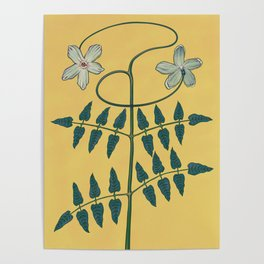 Cancer Flower Variation One Poster