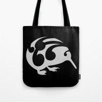 kiwi Tote Bags featuring Kiwi by mailboxdisco