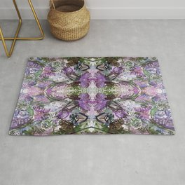 Psychedelic Positive Notes Lavender Rug