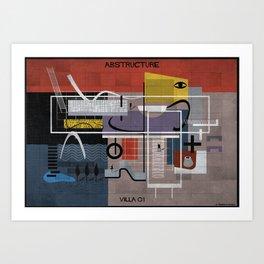 01_ABSTRUCTURE_VILLA Art Print
