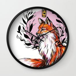 Regal Fox Wall Clock