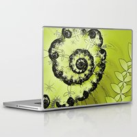 lime green Laptop & iPad Skins featuring Lime by Shalisa Photography