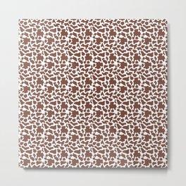 Cow Animal Print Pattern Metal Print