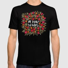 In Wine, There is Truth – Red LARGE Black Mens Fitted Tee
