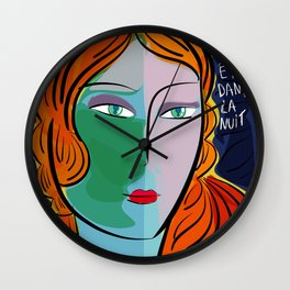 Une étoile dans la nuit French Pop Girl Art Decoration Wall Clock