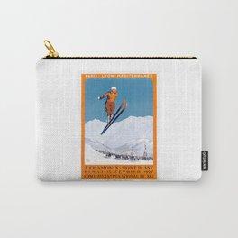 1927 Chamonix - Mont Blanc France Ski Championship Poster Carry-All Pouch
