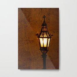 Old lantern with spider web in Christ Church, Oxford University | Architectural photography Metal Print