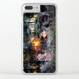 Sunset Forest : Where The Fairies Dwell Clear iPhone Case